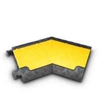 85210L AdamHall  Угловой семент 45° для Defender MINI 85200, 3-канальный, левый, желтая крышка