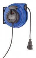 KBZ10NT HEDI Самосматывающийся удлинитель с креплением на стену/IP24/10м H07RN-F3G1,5/синий