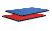 0568BLUR Сэндвич-панель пластик PP синий-красный 6,8мм Adam Hall