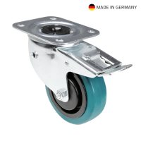37038 Adam Hall Колесо поворотное 100 мм с тормозом и автовыравниваем