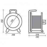 K1S000TF HEDI Катушка для удлинителя из металла D=255мм/3GS/IP44/термозащита