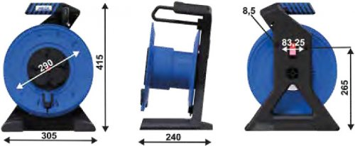 K7000TF HEDI Катушка Generation-7 для удлинителя из пластика D=290мм/4GS/IP44/термозащита