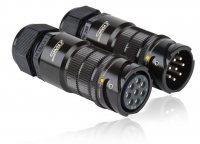 SPK08FV-SSMONT SPK 08 pin розетка кабельная+M32EL, покрытие контактов серебро, под пайку, контакты вставлены
