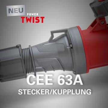 Разъемы CEE 63A - новый дизайн и эргономика