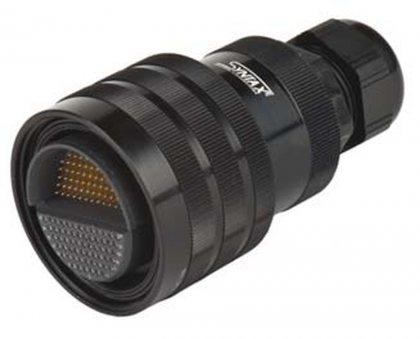SMA122V кабельный разъем, покрытие контактов золото, под обжим, контакты вставлены