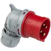 8024-6tt PCE Вилка кабельная угловая 32А/400V/3P+E/IP44, безвинтовое подключение