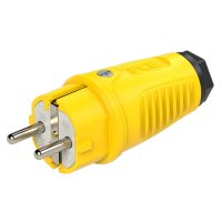 0511-es PCE Вилка кабельная 16A/250V/2P+E/IP54 корпус желтый, маркер черный