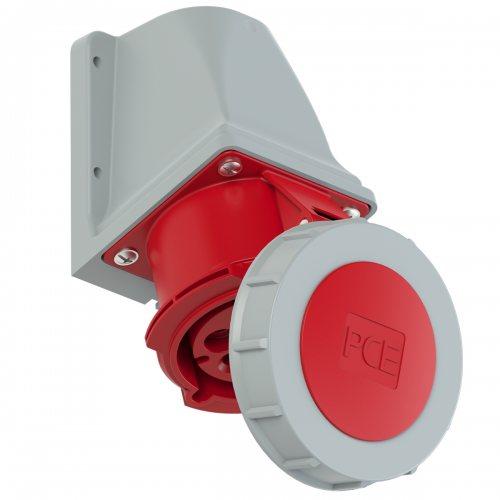1272-6v PCE Розетка настенная 32А/400V/6P+E/IP67, никелированные контакты