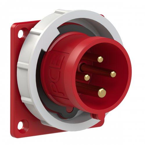 6142-6 PCE Вилка встраиваимая 16А/400V/3P+E/IP67, фланец 75x75