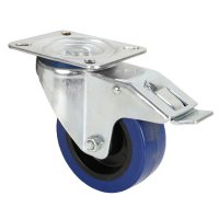 372191 Adam Hall Колесо поворотное 100 мм с тормозом