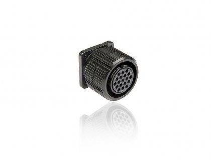 SHD019FPDGC 19 pin розетка панельная, со стопорным кольцом, покрытие контактов золотом, под обжим