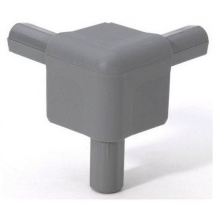Q4506MG Adam Hall Уголок пластиковый Easy Case System, цвет средне-серый