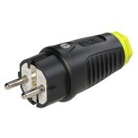 0511-she PCE Вилка кабельная 16A/250V/2P+E/IP54 корпус черный, маркер желтый