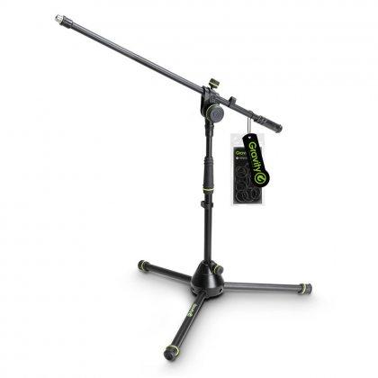 GMS4221B Gravity Короткая подставка для микрофона со складным основанием штатива и 2-точечной регулировочной стрелой