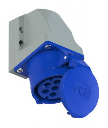 117-9 Розетка настенная 7-ми контактная 16A/230V/6P+E/IP44