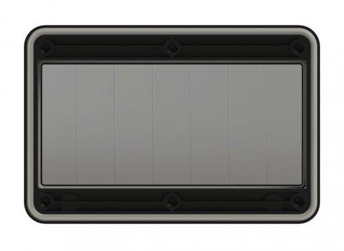 900607s-p PCE Защитное окно на 7 модулей IP67, черное