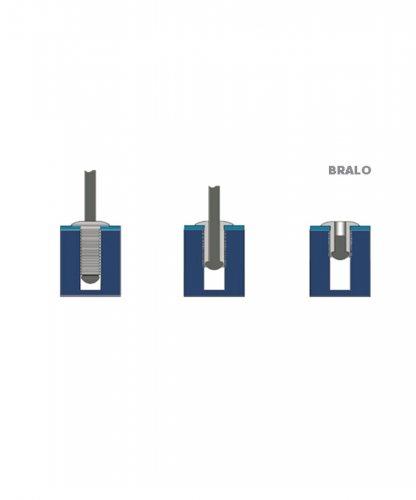 55964812  Adam Hall Заклепка рифленая глухая 4,8х12 мм Bralo