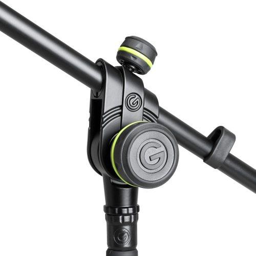 GMS2322B Gravity Подставка для микрофона с круглым основанием и 2-точечной регулировкой телескопической стрелы