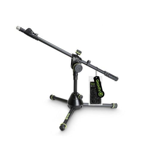 GMS3122HDB Gravity Подставка для микрофона короткая усиленная со складным основанием штатива