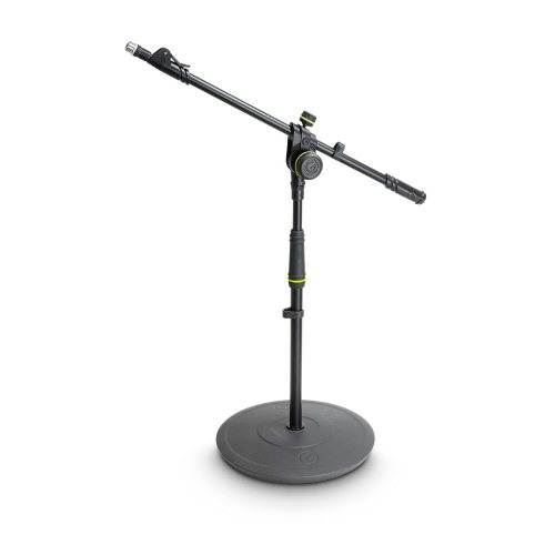 GMS2222B Gravity Подставка для микрофона короткая с круглым основанием и 2-точечной регулировкой телескопической стрелы