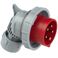 80252-6tt PCE Вилка кабельная угловая 32А/400V/3P+N+E/IP67, безвинтовое подключение
