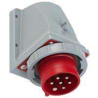 5272-6kv PCE Вилка настенная 32А/400V/6P+E/IP67, никелированные контакты