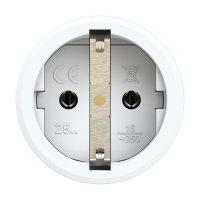 2510-gs PCE Розетка кабельная 16A/250V/2P+E/IP20 корпус серый, маркер черный
