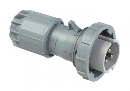 0832-12v PCE Вилка кабельная 16А/42V/2P+E/IP67, никелированные контакты