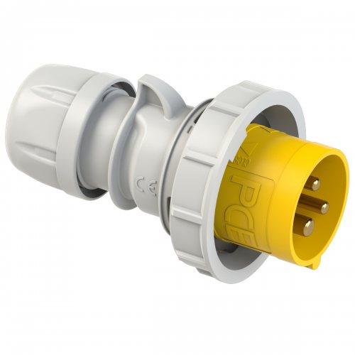 0232-4 PCE Вилка кабельная 32А/110V/1P+N+E/IP67