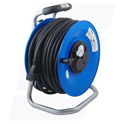 K2Y50NTF HEDI Удлинитель на катушке из пластика D=290мм/3GS/IP44/50м H07RN-F3G1,5/термозащита