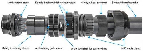 SSX19FV-GCMS SSX 19 pin SPIDER розетка кабельная, золотое покрытие контактов, под обжим