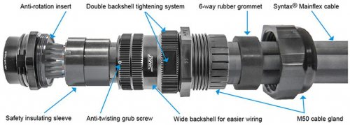 SSX19FV-GSMS SSX 19 pin SPIDER розетка кабельная, золотое покрытие контактов, под обжим