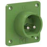 692-11v PCE Вилка встраиваемая 32A/24-42V/2P/IP44, никелированные контакты, фланец 70x70