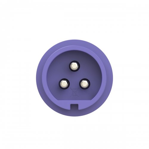 0732v PCE Вилка кабельная 32А/24V/2P+E/IP67, никелированные контакты