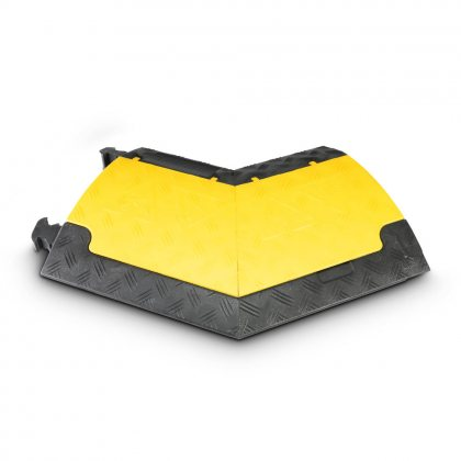 85210R AdamHall  Угловой семент 45° для Defender MINI 85200, 3-канальный, правый, желтая крышка