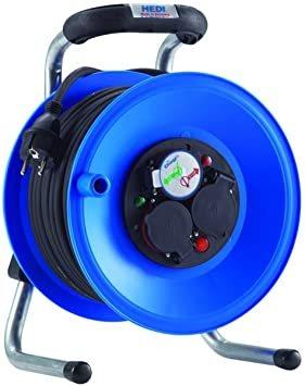 K1Y25GTF HEDI Удлинитель на катушке из пластика D=255мм/3GS/IP44/25м H05RR-F3G1,5/термозащита