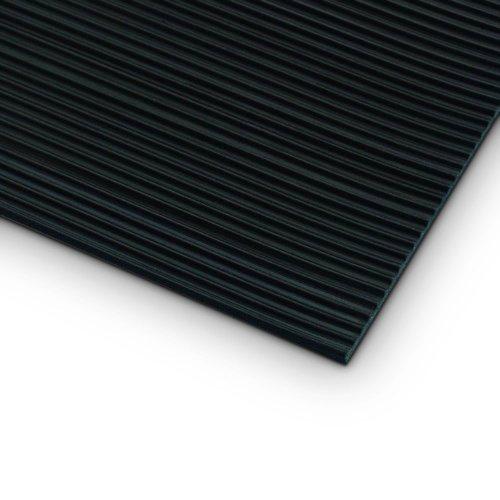 85900 Defender Rills Mat Black черный тонкий рифленый  мат (1х10м) Adam Hall
