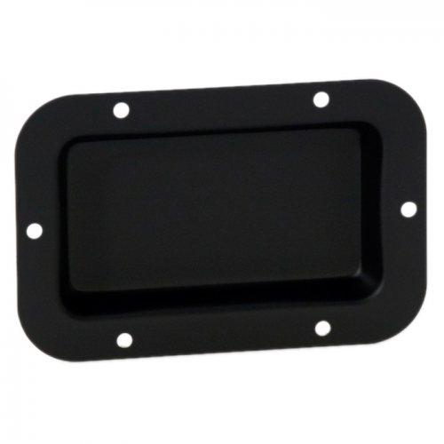 8705Blk Вставка оцинкованная черная Adam Hall, 115х65 мм, материал: сталь, толщина 1 мм