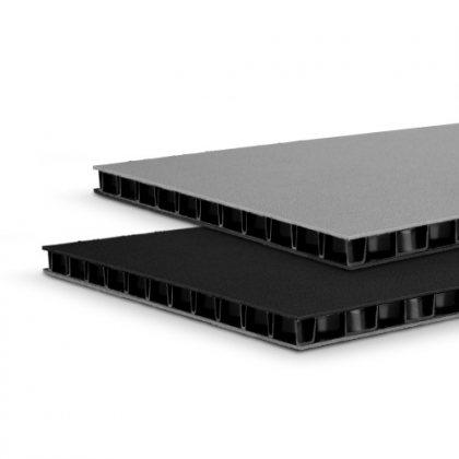 0594BG Adam Hall Сэндвич-панель листовой PP черный-серый 9,4мм 2500x1250 мм