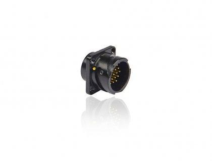 SVK019MPHSST SVK 019 pin вилка панельная, с эргономичным стопорным кольцом, покрытие контактов серебро, под пайку, контакты вставлены