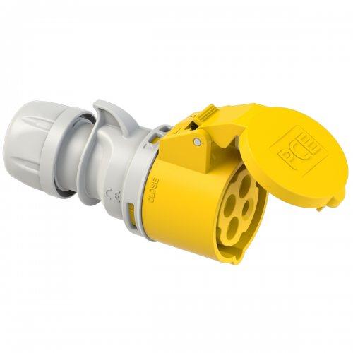 214-4 PCE Розетка кабельная 16А/110V/3P+E/IP44