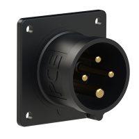 614-6x PCE Вилка встраиваемая 16А/400V/3P+E/IP44, черная