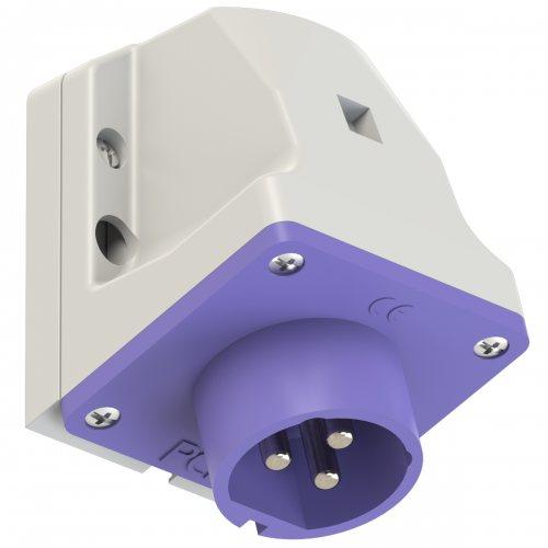573v PCE Вилка настенная 32A/24V/2P+E/IP44, никелированные контакты