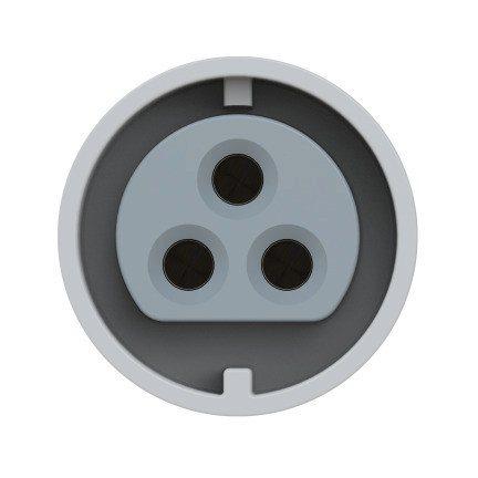 193-12v PCE Розетка настенная 32А/42V/2P+E/IP44, никелированные контакты