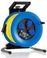 K340U2TFI HEDI Удлинитель на катушке из пластика D=320мм/3GS/IP44/40м AT-N07V3V3-F3G2,5/УЗО/термозащита