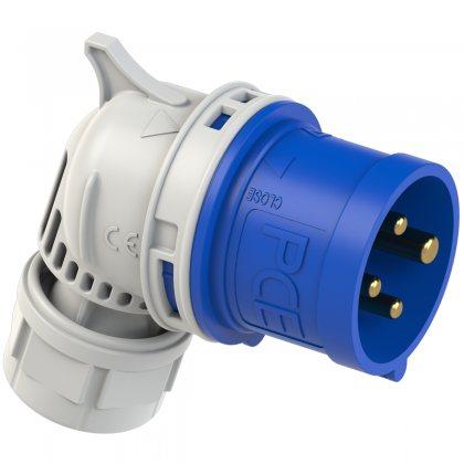 8014-9 PCE Вилка кабельная угловая 16А/230V/3P+E/IP44