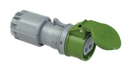 282-11v PCE Розетка кабельная 16А/24-42V/2P/IP44, никелированные контакты