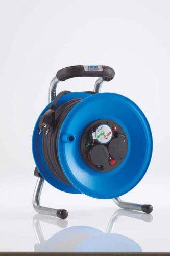 K1Y50GTF HEDI Удлинитель на катушке из пластика D=255мм/3GS/IP44/50м H05RR-F3G1,5/термозащита