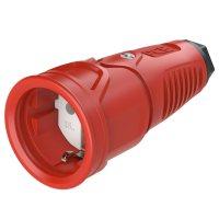2510-rsw PCE Розетка каб 16A/250V/2P+E/IP20 корпус красный, маркер черный