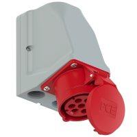 917-6v PCE Розетка настенная 16A/400V/6P+E/IP44, никелированные контакты